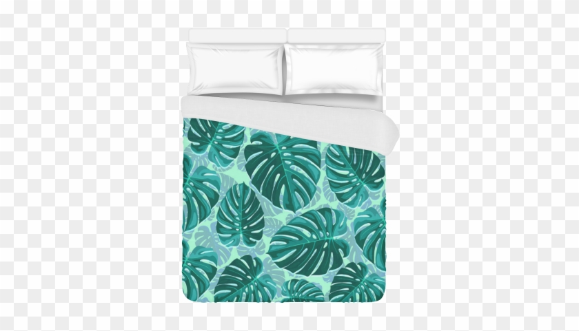 """Tropical Leaf Monstera Plant Pattern Duvet Cover 86""""x70"""" - Swiss Cheese Plant #1219690"""