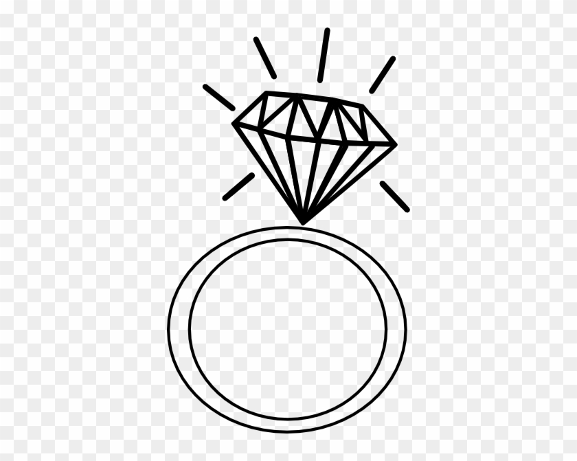 Wedding Ring Clipart Diamond Drawing Of Ring Free Transparent
