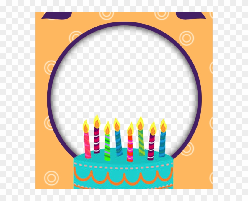 Birthday Frame - Birthday Cake Frame Png - Free Transparent PNG