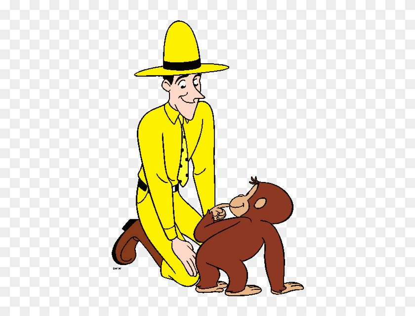 Curious George Clipart - Curious George And Man In The Yellow Hat #1222359
