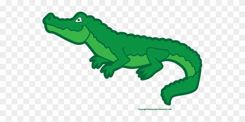 Pair Of Cartoon Crocodiles - Clipart Alligator #1222503