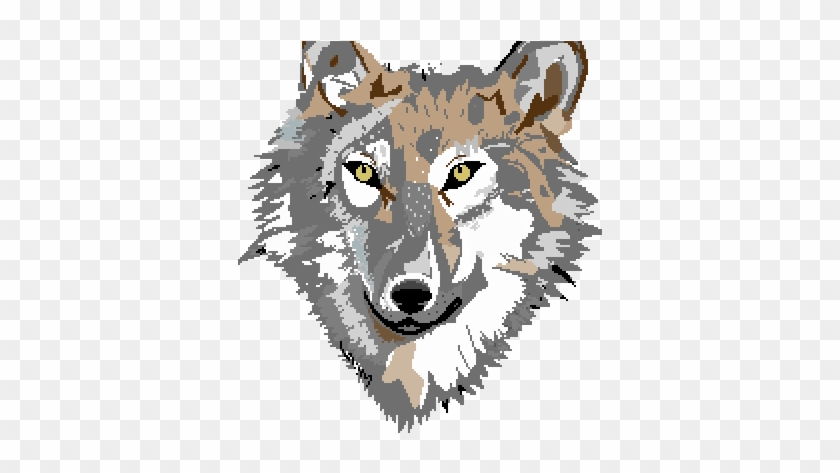 Pixel Art Throwback Thursday Clipart Wolf Head Pixel Art Free