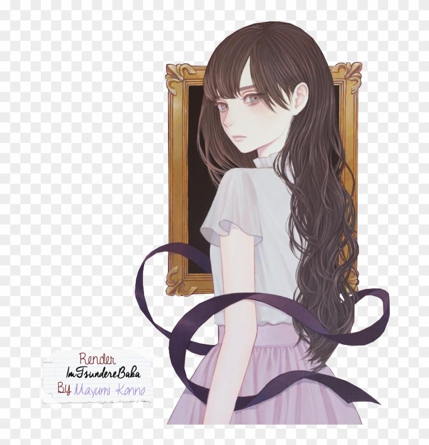 Girl Render - Anime Girl Brown Hair Art #1225003