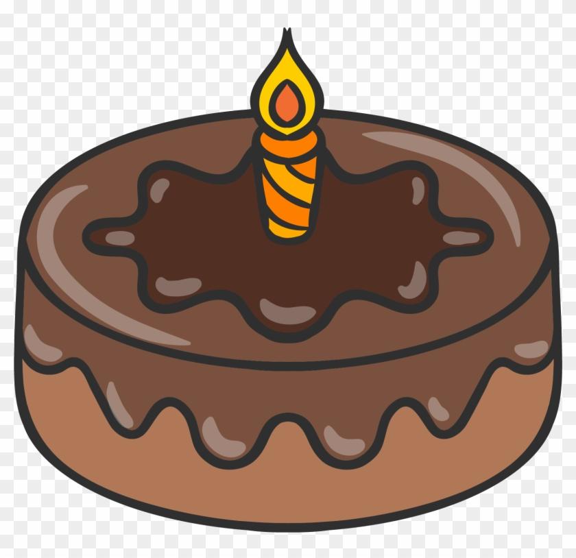 Chocolate Cake Birthday Cake Drawing - Desenho De Um Bolo De Chocolate #1225057