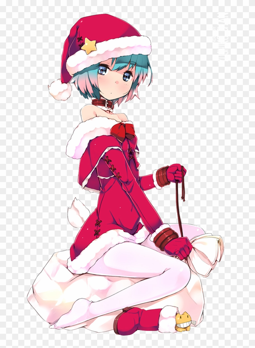 Christmas Anime Girl Png - Free Transparent PNG Clipart Images Download
