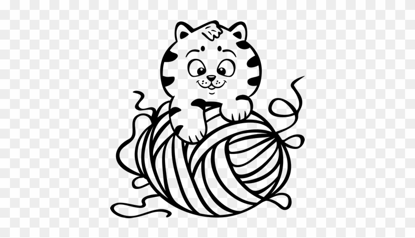 Yarn Ball Coloring Coloring Pages Kellysdesigns Nursery Wall Decal