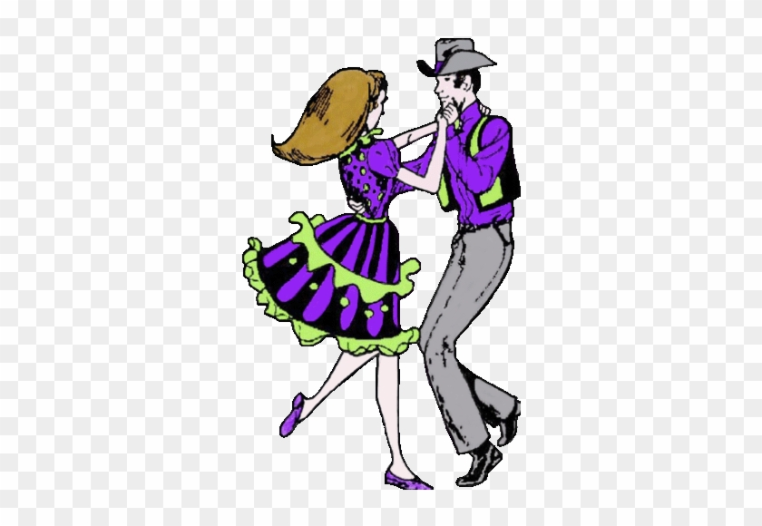 Western Square Dance Clip Art - Square Dancing Animated Gif #1225646