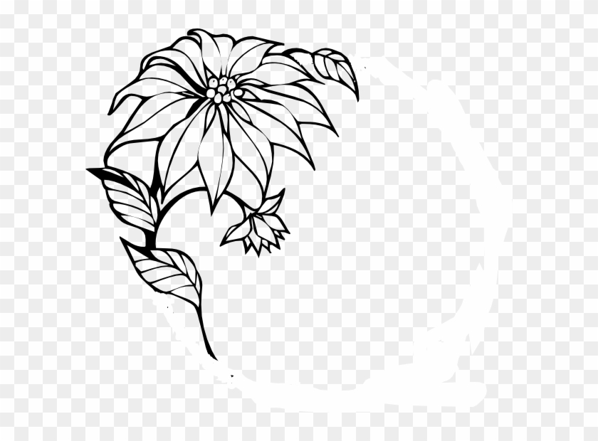 Flowers Border Design Black And White Png Flowers Healthy