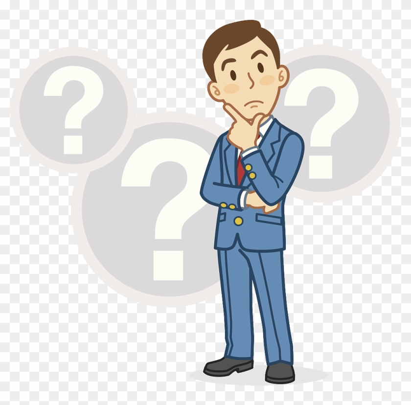 Businessperson Cartoon Thought Cartoon With Question Mark Free