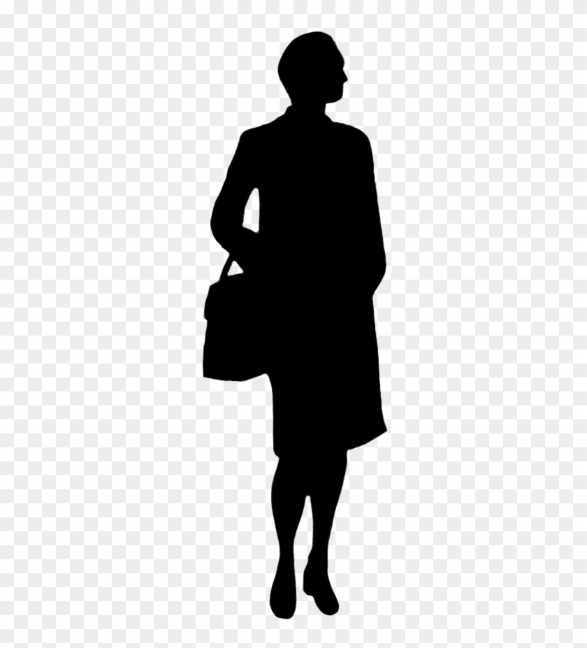 Person Silhouette Clip Art - Silhouette Woman Png #197001