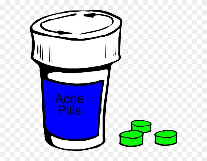 Acne Pills Clip Art - Pill Bottle Clip Art #197514