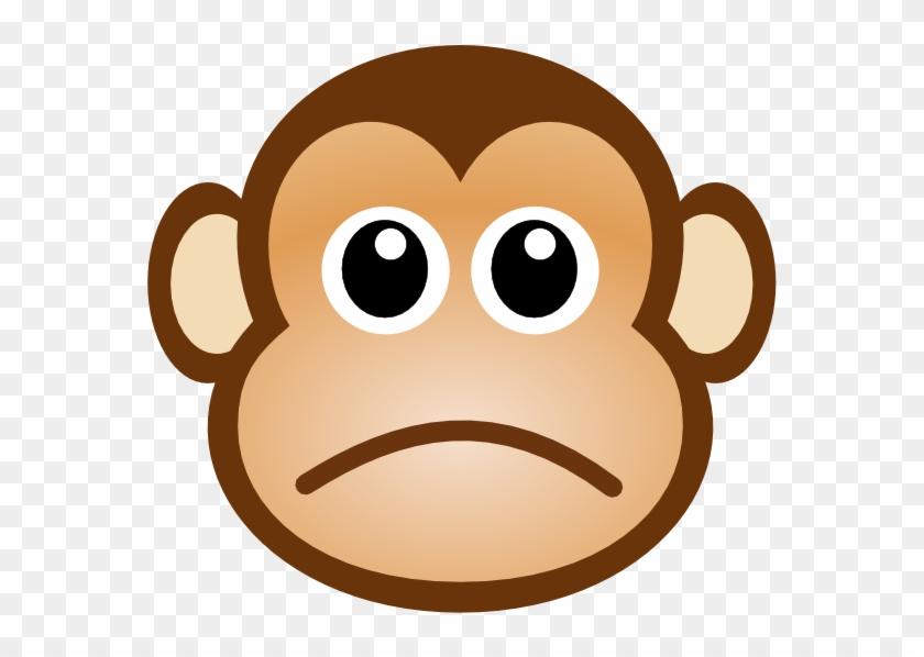 Stuffed Animal Clipart Sad - Monkey Face Cartoon #197999
