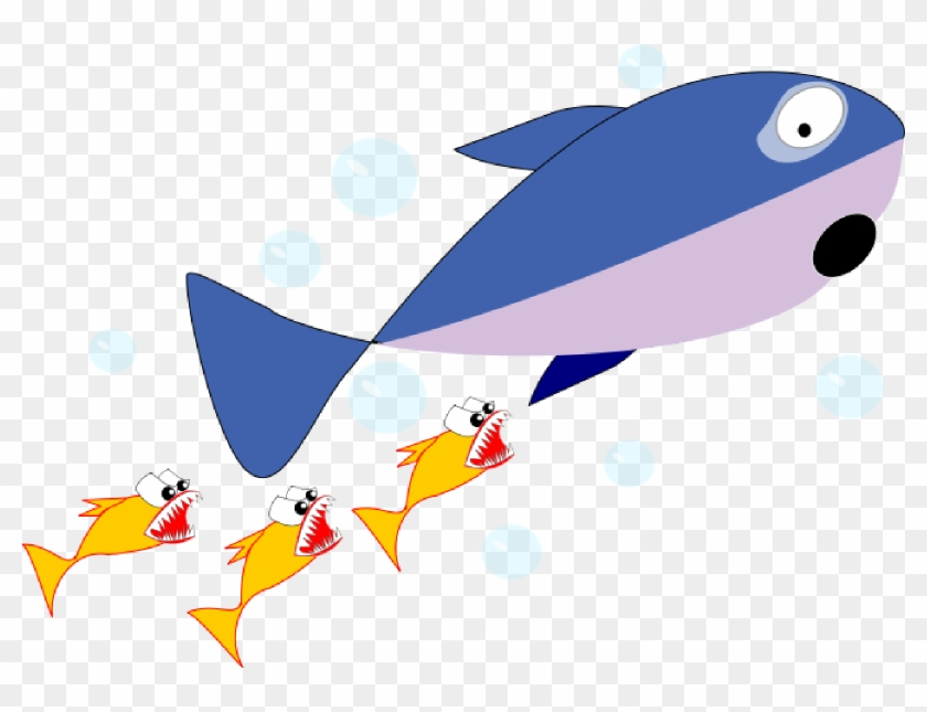 Shark Clipart Foca - Shark Chasing Fish Cartoon #198049