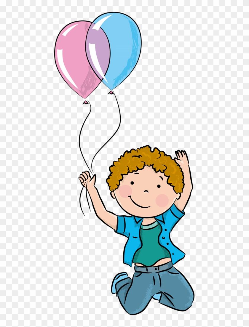 Clipart Aniversário - Children Play Vector Balloon Png #198085