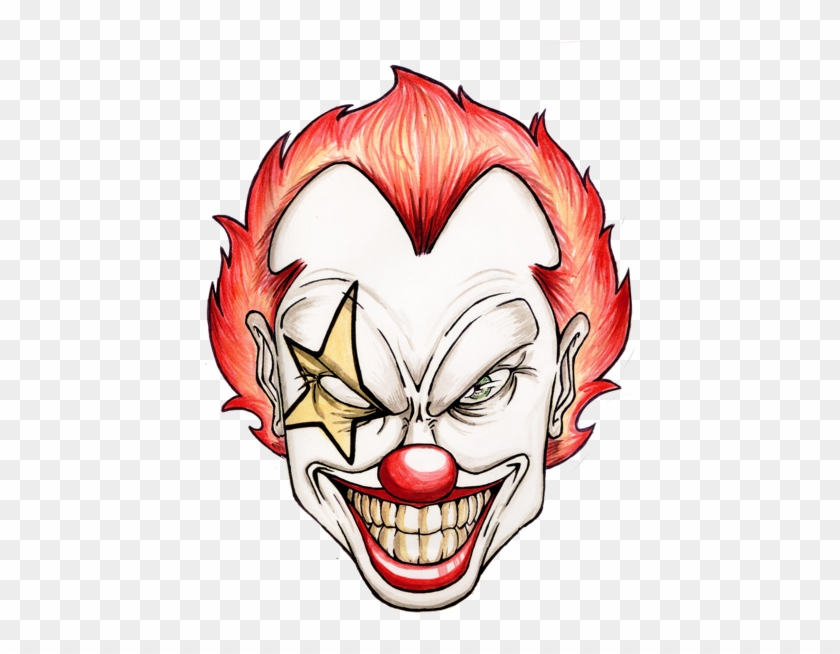 Scary Cartoon Clowns Scary Clown Face Cartoon Free Transparent