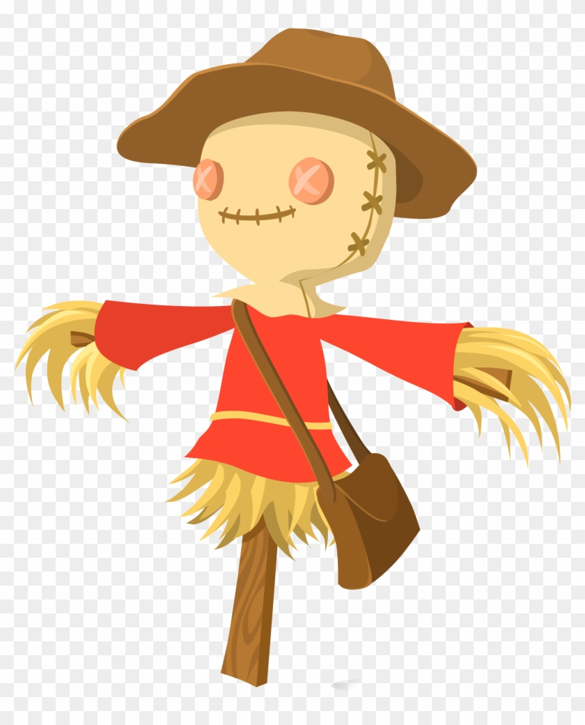Glitch Video - Scarecrow Clipart Public Domain #198327