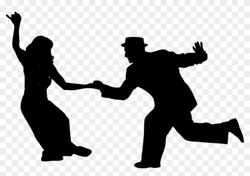 « Ballroom Tea Dance - Silhouette Swing Dancers Lindy Hop #198587
