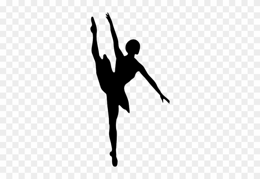 Silhouette Vector Clip Art Of Ballet Dancer - Ballet Dancer Silhouette #198678