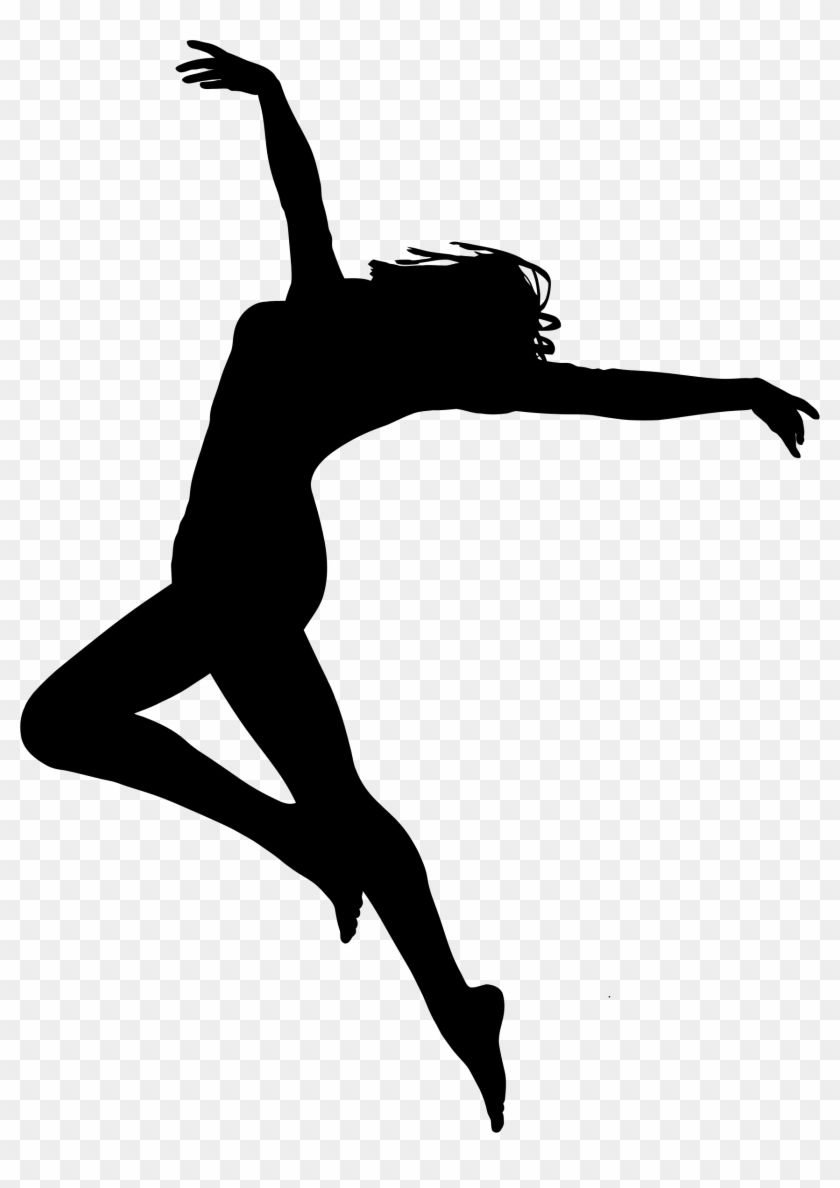 Clipart - Woman Dancing Silhouette #198679