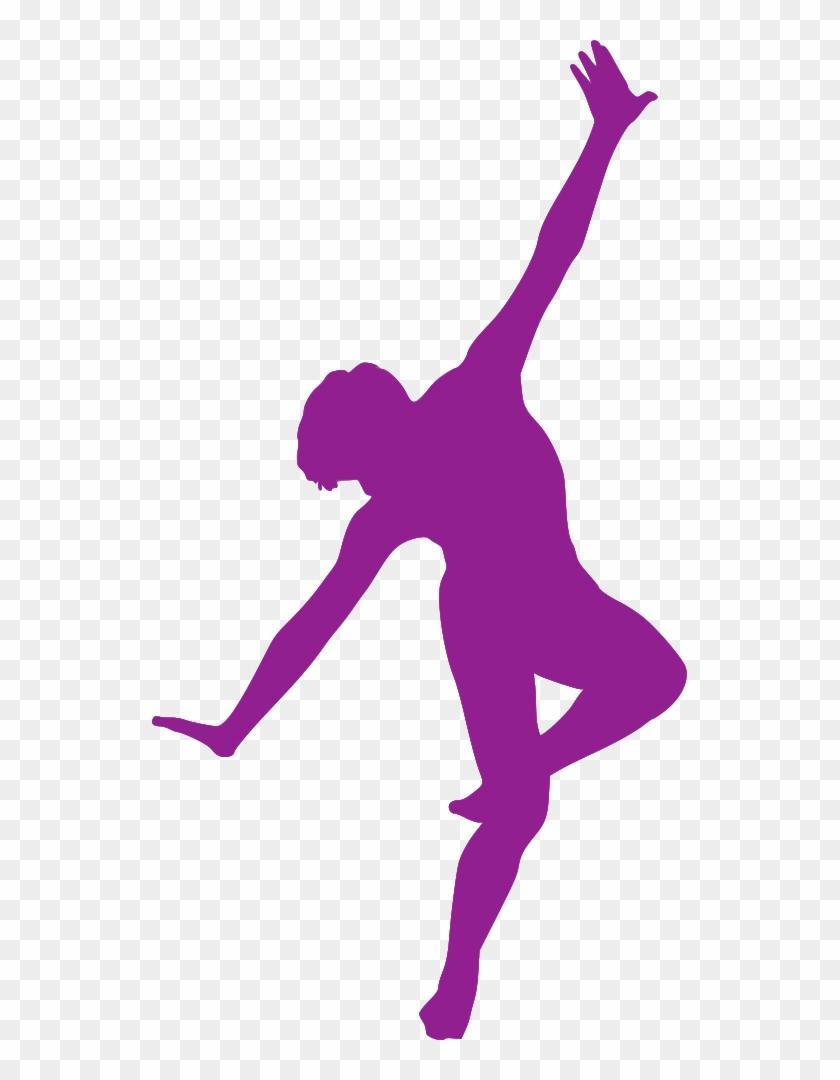 Silhouette Danse - Purple Silhouette Dancer #198689