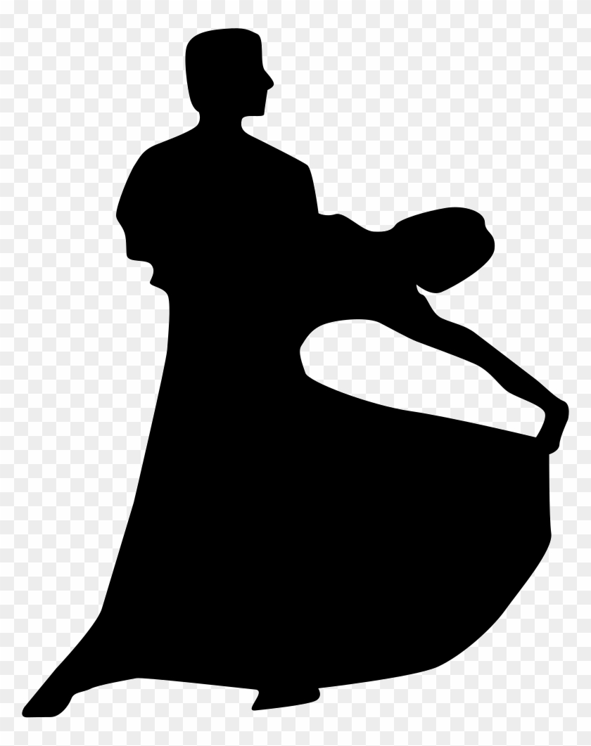 Couple Silhouette Of Flamenco Dance Comments - Man And Woman Dancing Silhouette #198836