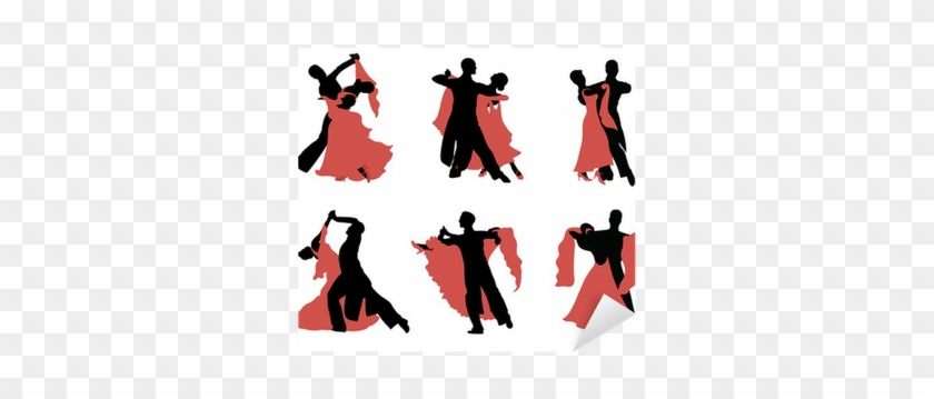 Set Of Silhouettes Of A Dancing Couple - Dancing Couple #198844