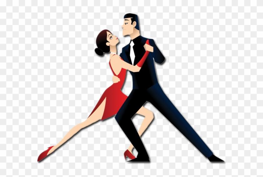 Tango Dancers Cartoon #198956