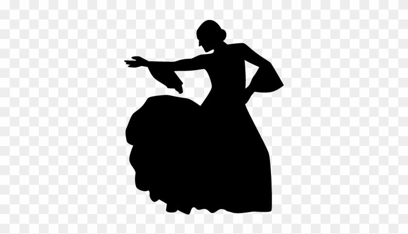 Dancing Woman Silhouette Vector - Dancing Woman Silhouette #198957