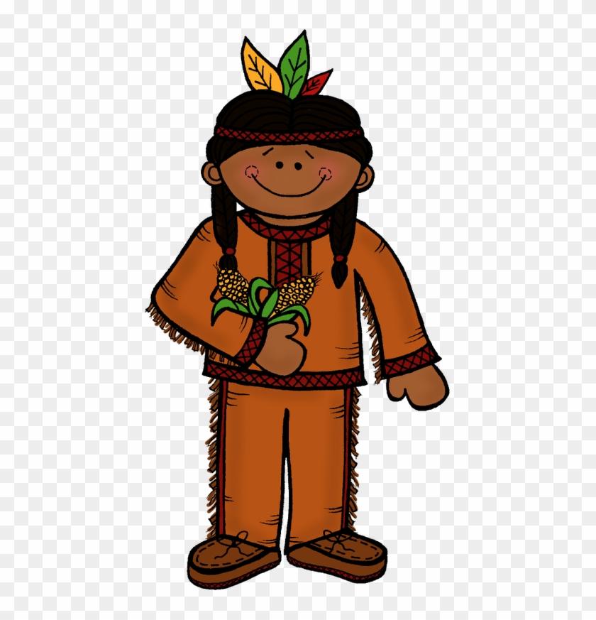 Native American Indian Native A Clipart Clipartix Cliparting - Melonheadz Thanksgiving Clipart #199047