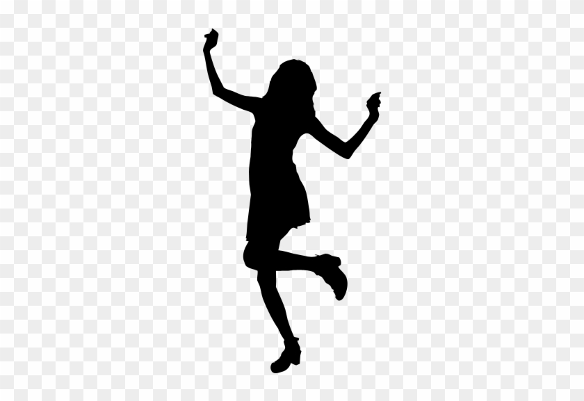 Dance Woman Bachelorette Party Clip Art - Outline Of Girl Dancing #199074