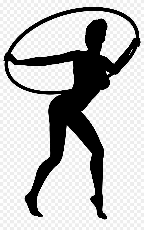 Girl Dancing With Hoop Silhouette - Hula Hoop Dancer Silhouette #199078