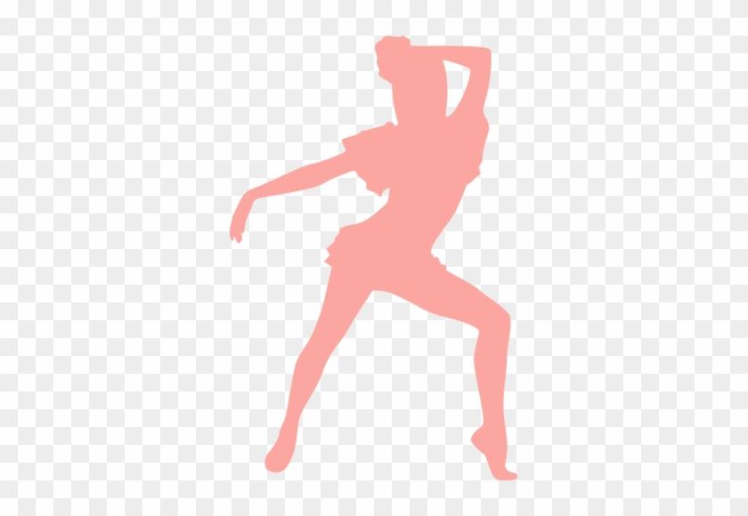 Pink Dancing Girl Public Domain Vectors - Public Domain Dancing Sillouett #199080