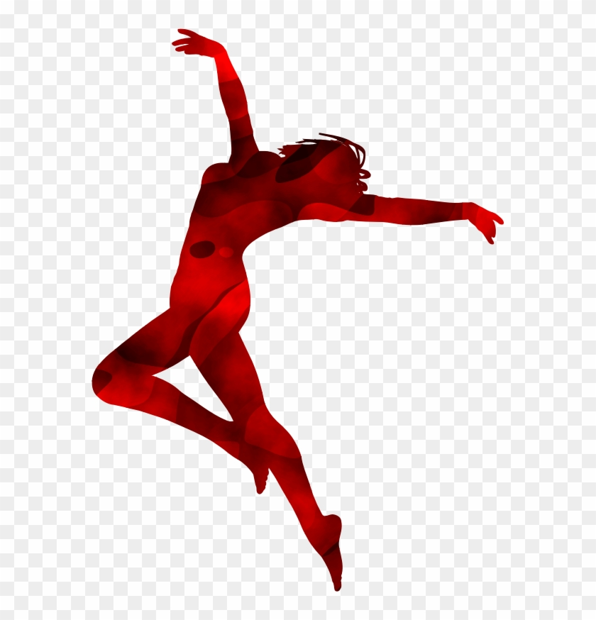 Clipart Dancer Silhouette - Red Dancer Silhouette #199135