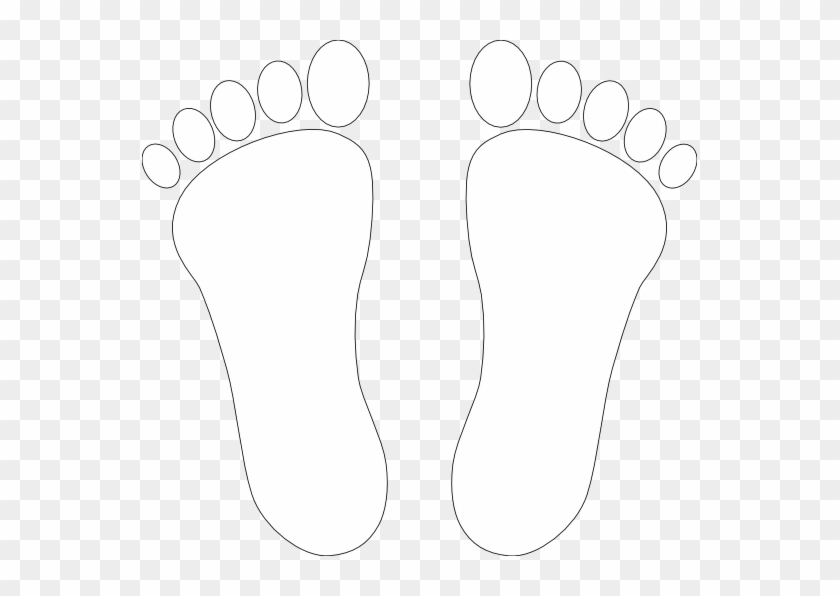 Feet - Outline - Clip - Art - Foot Clipart Black And White #199182