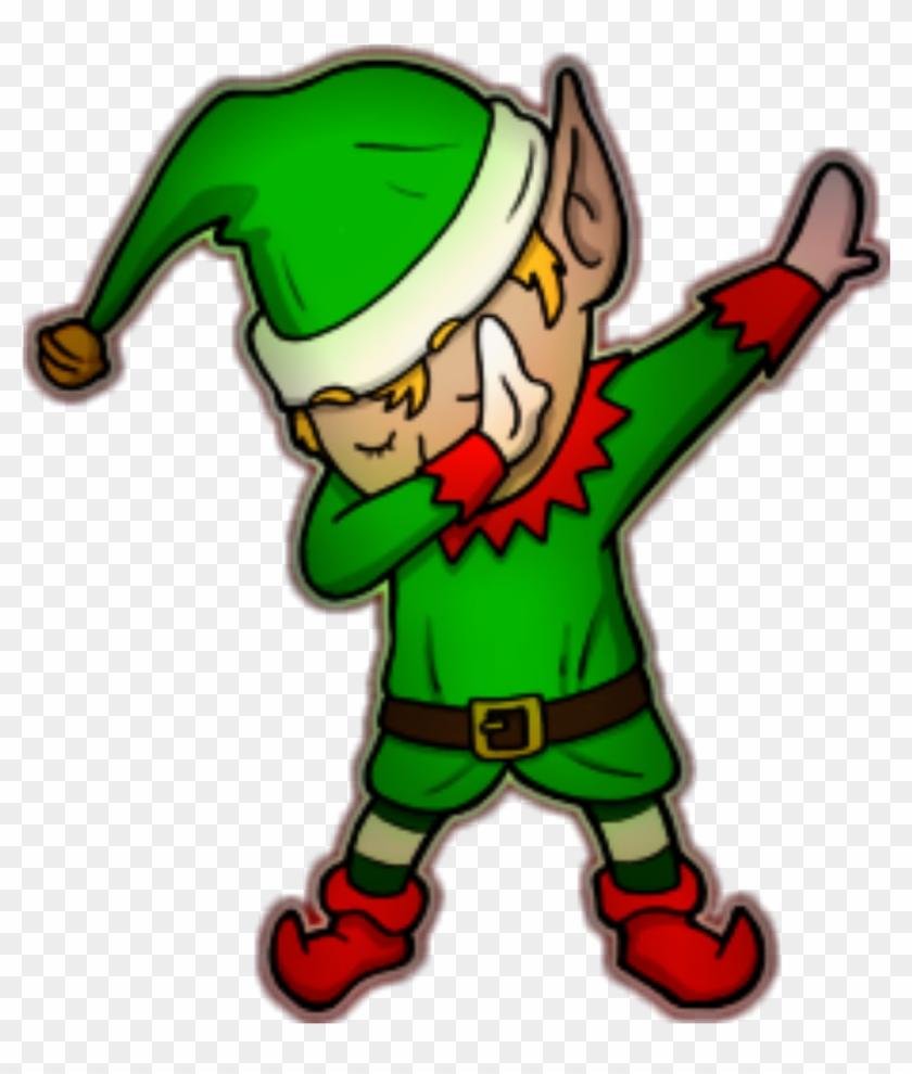 Christmas Dancing Cartoon.Ftestickers Elf Dab Dance Christmas Danial8986 Cartoon