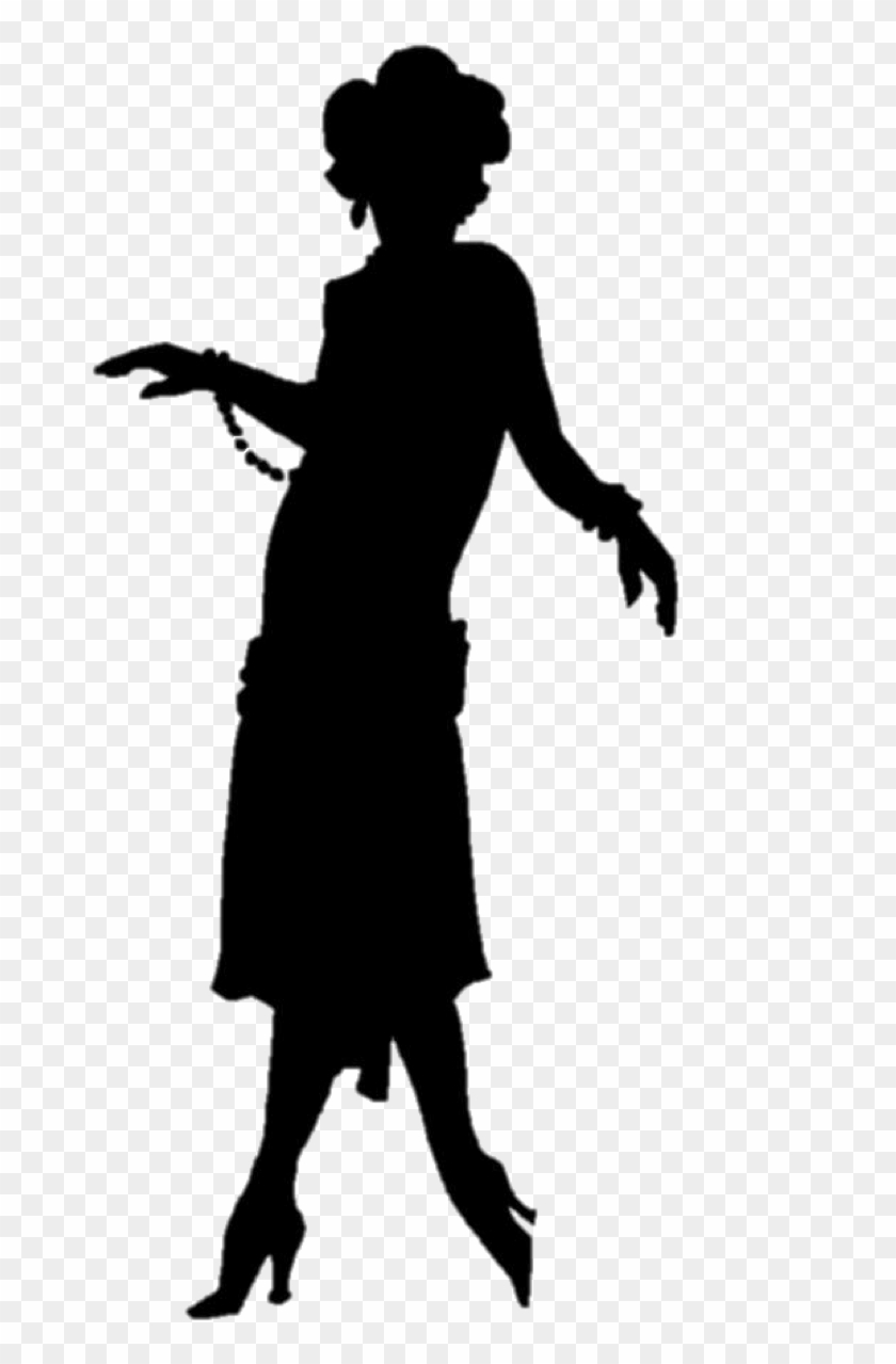 1920s flapper silhouette roaring twenties flapper silhouette