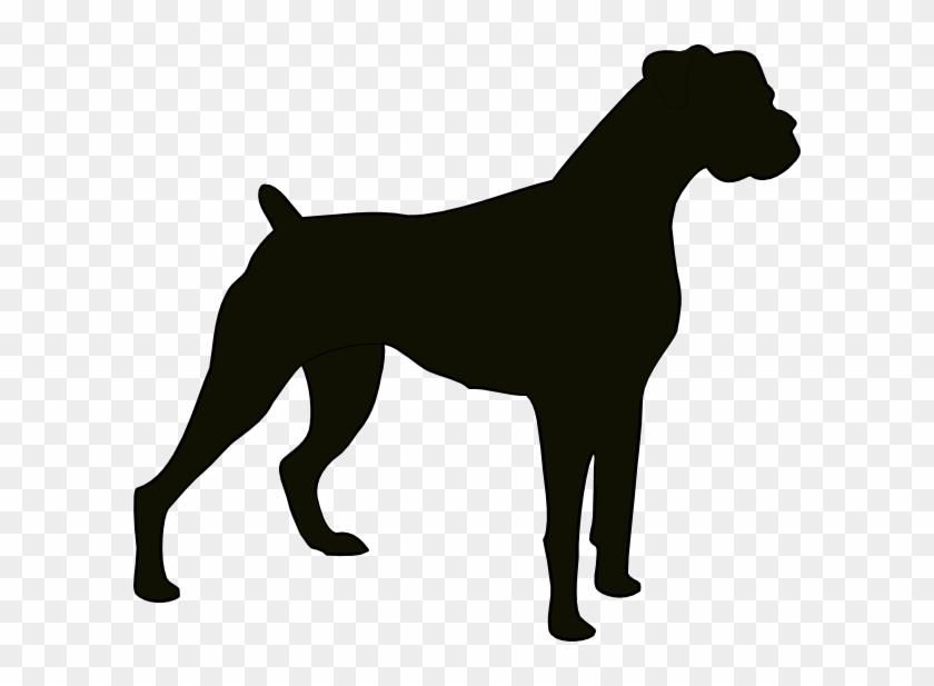 Boxer Silhouette Clip Art - Boxer Dog Silhouette Vector - Free ...