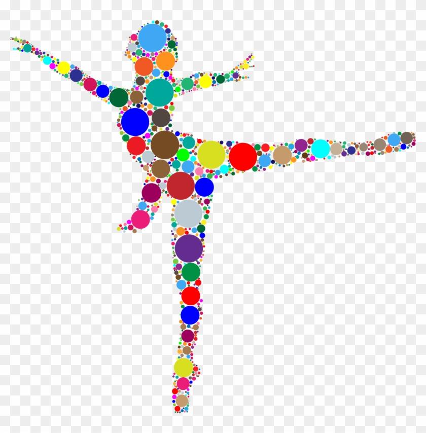 Ballet Dancer Circles - Colorful Dancer #199535
