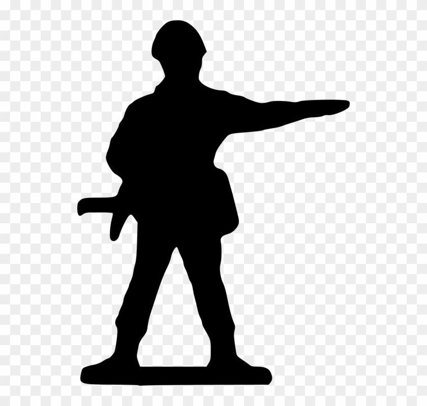 Soldier, Silhouette - - Ww1 Soldiers Cartoon Png #199692