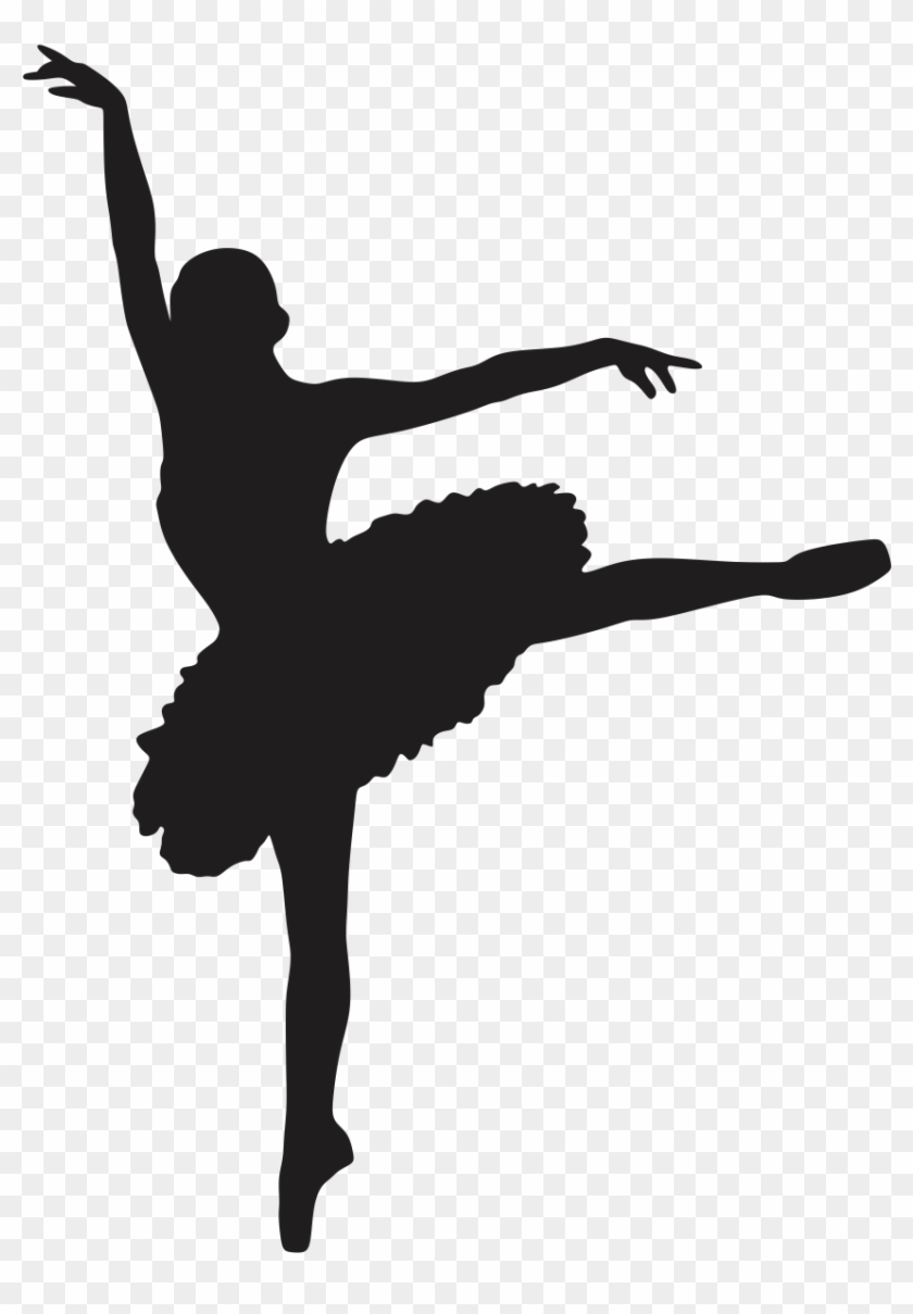 Ballet Dancer Silhouette Clip Art - Ballerina Cut Out #199702