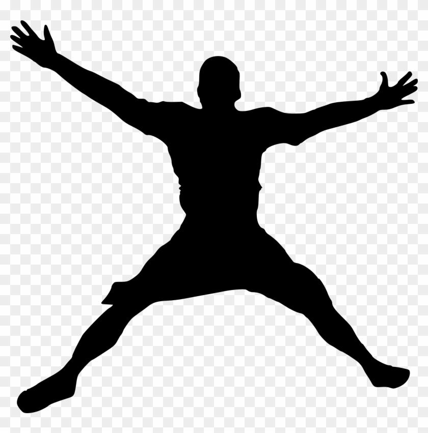 Silhouette Person Dance Clip Art Jump Silhouette Free Transparent Png Clipart Images Download