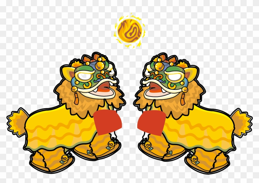 lion dance dragon dance chinese new year clip art lion dance dragon dance chinese new