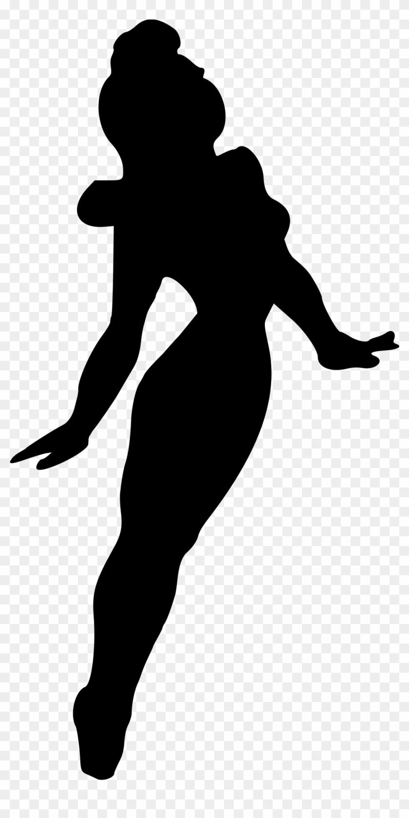Dancing 4 - Woman Dancing Silhouette .png #199890