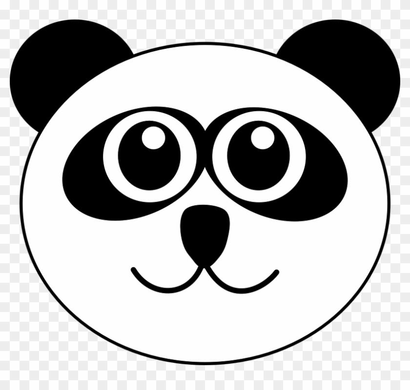 Panda Bear Animal Cute Cartoon Face Head S - Panda Head Clipart #199980