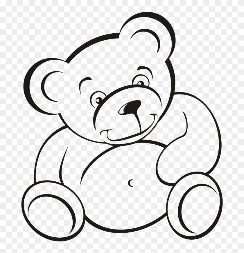 Medium Image - Teddy Bear Outline #200232