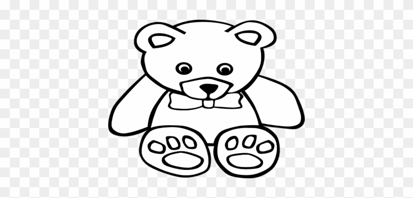 Coloring Trend Thumbnail Size Teddy Bear Clip Art Outline - Teddy Bear Coloring Pages #200248