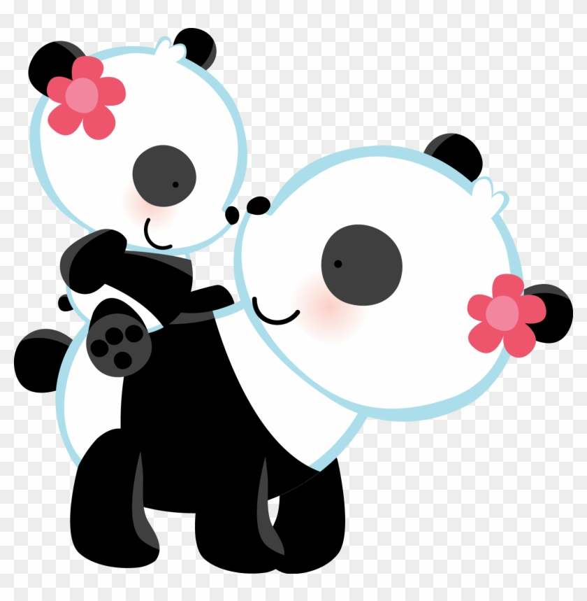 Panda Bear Love Wall Art Mural Decal For Baby Girl - Panda Wedding Invitations #200411