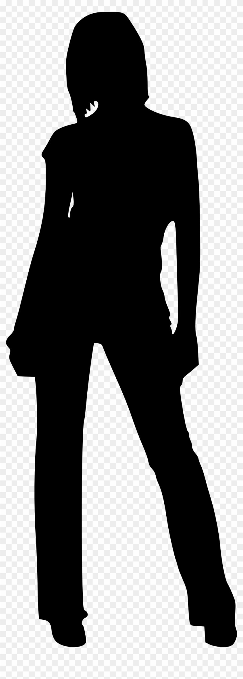 Lady With Hat Silhouette - Baseball Fielder Clipart #200460
