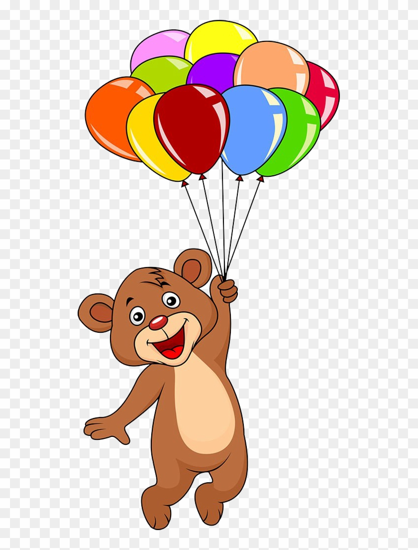 Teddy Bear Balloon Clip Art Teddy Bear Holding Balloons Free