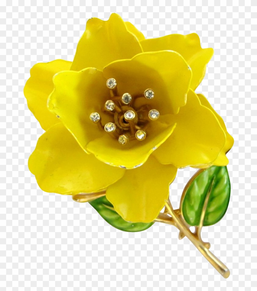 Crown trifari yellow rose enamel flower pin yellow flower petals crown trifari yellow rose enamel flower pin yellow flower petals on transparent background mightylinksfo